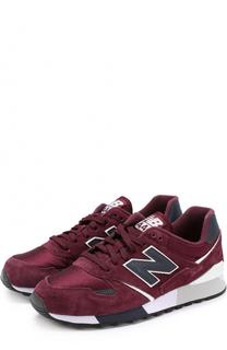 Замшевые кроссовки 446 с текстильными вставками New Balance