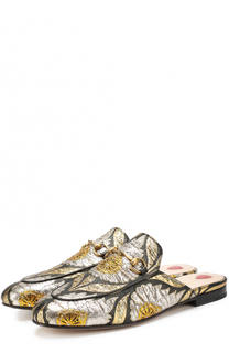 Текстильные сабо Princetown с вышивкой Gucci