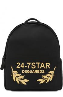 Текстильный рюкзак с отделкой из натуральной кожи Dsquared2