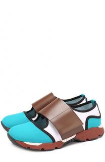 Комбинированные кроссовки с широким ремешком Marni
