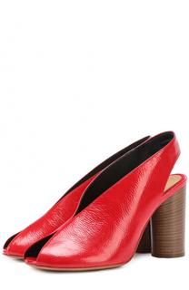 Босоножки из фактурной кожи на наборном каблуке Isabel Marant