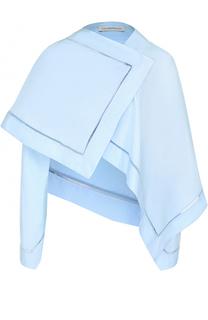 Хлопковая блуза асимметричного кроя с перфорацией J.W. Anderson