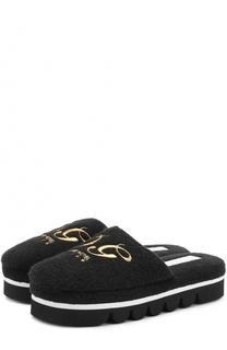Домашние туфли с вышивкой Dolce & Gabbana
