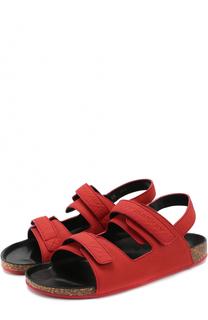 Кожаные сандалии с застежками велькро Burberry
