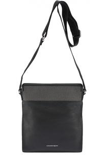 Кожаная сумка-планшет с декоративной отделкой заклепками Alexander McQueen