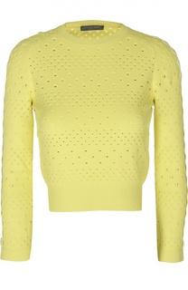 Укороченный пуловер с перфорацией Alexander McQueen