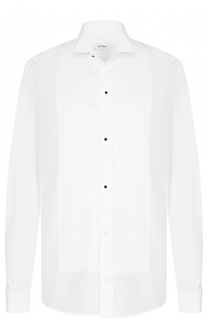 Хлопковая сорочка под смокинг с воротником бабочка Eton