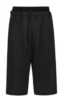 Льняные шорты свободного кроя с заниженной линией шага Isabel Benenato