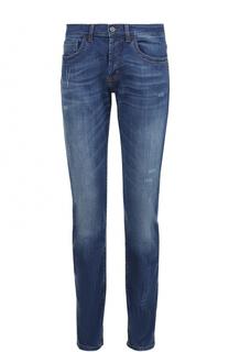 Укороченные джинсы с потертостями Dirk Bikkembergs