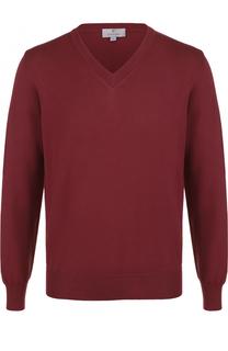 Хлопковый пуловер тонкой вязки Canali