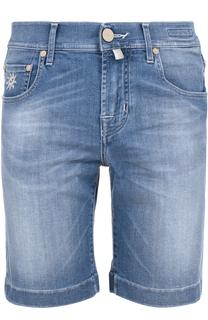 Джинсовые шорты с контрастной прострочкой Jacob Cohen