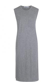 Платье-миди свободного кроя без рукавов T by Alexander Wang