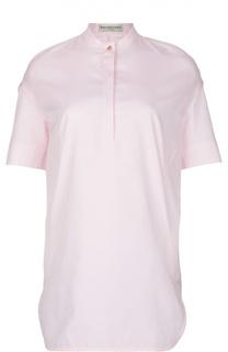 Удлиненная блуза с разрезами и воротником-стойкой Balenciaga