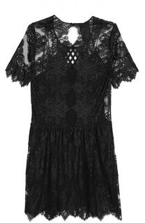 Кружевное мини-платье свободного кроя Burberry