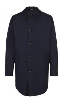 Шерстяное пальто на молнии прямого силуэта Kiton