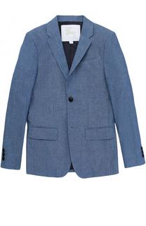 Однобортный хлопковый пиджак Burberry