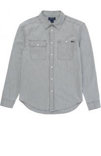 Рубашка из хлопка с накладными карманами Polo Ralph Lauren