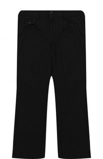 Хлопковые брюки прямого кроя с аппликациями Dolce & Gabbana