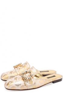 Парчовые сабо с пряжкой Dolce & Gabbana