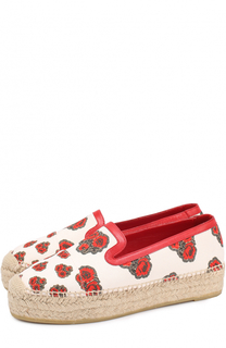 Текстильные эспадрильи с цветочным принтом Alexander McQueen
