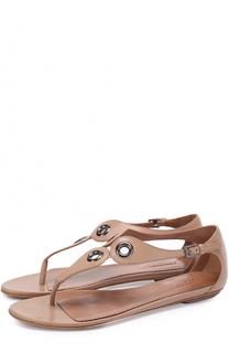 Кожаные сандалии с люверсами Alaia