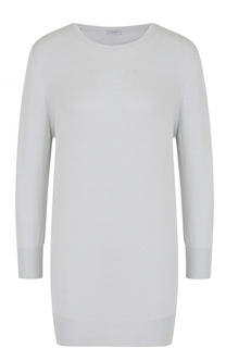 Удлиненный пуловер прямого кроя с круглым вырезом malo
