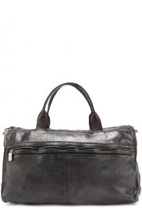 Кожаная дорожная сумка с внешним карманом на молнии Numero 10