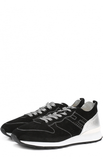Комбинированные кроссовки с перфорацией Hogan