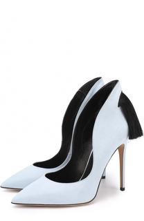 Замшевые туфли Louisa с бахромой Aleksandersiradekian