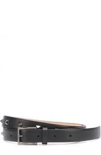 Кожаный ремень с декоративной отделкой Valentino