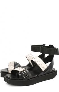 Кожаные сандалии на массивной подошве Vic Matie
