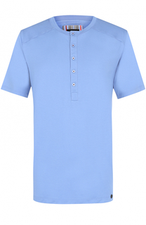 Хлопковая футболка хенли Hanro