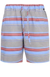 Хлопковые домашние шорты свободного кроя с поясом на резинке Hanro