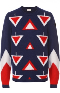 Шерстяной свитер с контрастным узором Moncler
