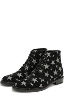 Замшевые ботинки Lolita с принтом в виде звезд Saint Laurent