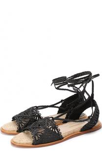 Плетеные сандалии на джутовой подошве Paloma Barcelo