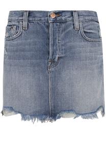 Джинсовая мини-юбка с необработанным краем J Brand