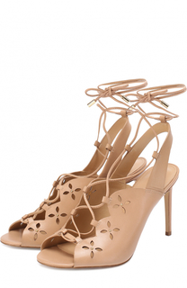 Кожаные босоножки Thalia на шнуровке MICHAEL Michael Kors
