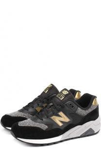 Комбинированные кроссовки 580 на шнуровке New Balance
