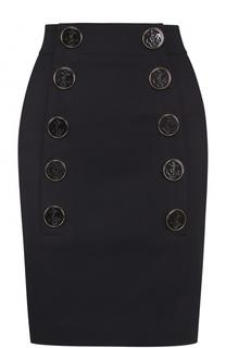 Юбка с завышенной талией и декорированными пуговицами Dolce & Gabbana