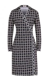 Мини-платье с запахом и контрастным принтом Weill