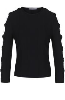 Облегающий пуловер с декоративной отделкой рукавов Alexander McQueen