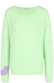 Кашемировый пуловер свободного кроя с круглым вырезом Natasha Zinko
