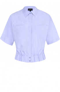 Укороченная блуза с накладными карманами Giorgio Armani