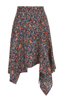 Шелковая мини-юбка асимметричного кроя Isabel Marant