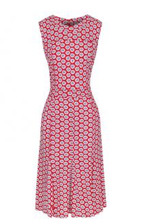 Приталенное платье без рукавов с ярким принтом Tory Burch