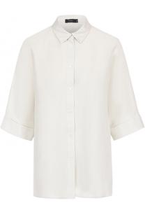 Шелковая блуза прямого кроя с укороченным рукавом Joseph