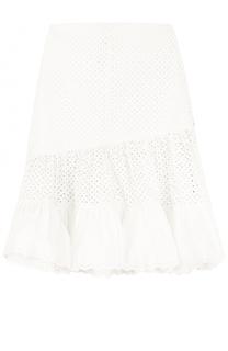 Кружевная юбка-миди с оборками Sonia by Sonia Rykiel