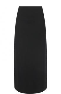 Юбка-миди с высоким разрезом DKNY