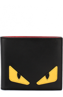 Кожаное портмоне с отделкой Bag Bugs Fendi